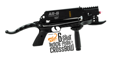 Steambow AR-6 Stinger   incl. 6-schots ALU-magazijn   UNIEK!