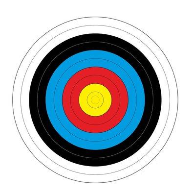 FITA Blazoen | verstevigd | 40x40cm | 100-pack