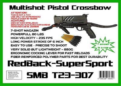 RedBack SuperSport RTS Kruisboogpistool   incl. 7-schots magazijn   NIEUW!