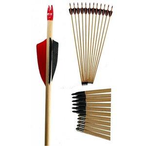 Black Bow cederhouten pijl met natuurveren   24 - 28,5inch
